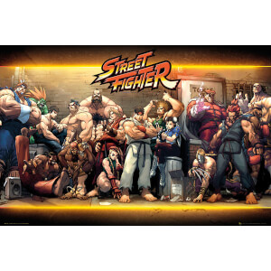 Street Fighter Characters - 24 x 36 Inches Maxi Poster