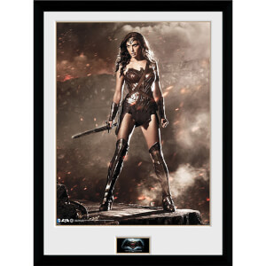 DC Comics Batman v Superman Dawn of Justice Wonder Woman - 16 x 12 Inches Framed Photographic