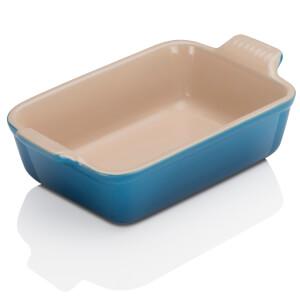 Le Creuset Stoneware Small Heritage Rectangular Roasting Dish 19cm - Marseille Blue