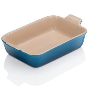 Le Creuset Stoneware Medium Heritage Rectangular Roasting Dish 26cm - Marseille Blue