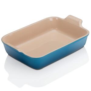 Le Creuset Stoneware Large Heritage Rectangular Roasting Dish - Marseille Blue