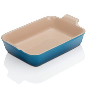 Le Creuset Stoneware Large Heritage Rectangular Roasting Dish 32cm - Marseille Blue