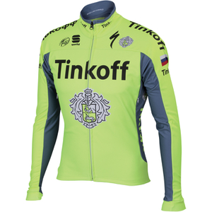 Tinkoff BodyFit Pro Windstopper Jacket 2016 - Yellow