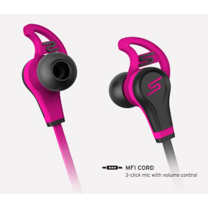 SMS Street Sport In Ear Wired Headphones with Mic & Remote - Pink: Image 2