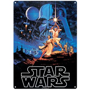 Star Wars A New Hope Large Tin Sign (29.7cm x 42cm)