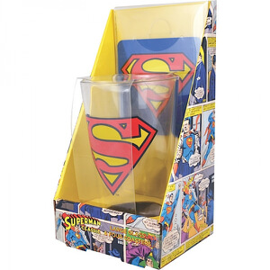 DC Comics Superman Glass and Coaster Set in Gift Box