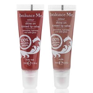 Dúo de ungüentos a mitad de precio Balance Me2 x 10 ml - Rojo Rubí/ Nude