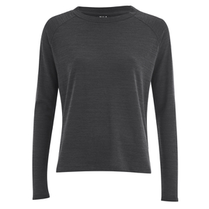 VILA Women's Central Long Sleeve Top - Dark Grey Melange
