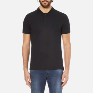 Selected Homme Men's Daro Short Sleeve Cotton Pique Polo Shirt - Black