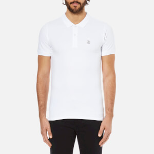 Selected Homme Men's Daro Short Sleeve Cotton Pique Polo Shirt - Bright White
