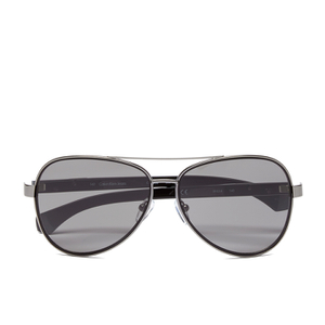 Calvin Klein Jeans Unisex Aviator Sunglasses - Gunmetal