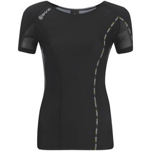Skins DNAmic Women's Short Sleeve Top - Black/Limoncello