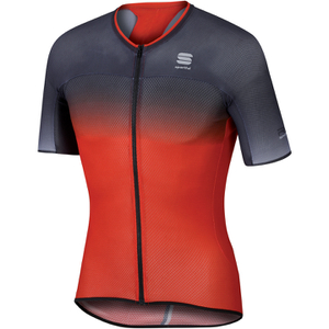 Sportful R&D Ultralight Short Sleeve Jersey - Red/Grey