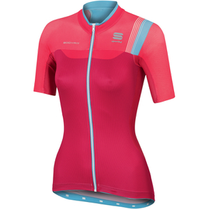 Sportful BodyFit Women's Short Sleeve Jersey - Pink/Blue