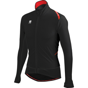 Sportful Fiandre Light Wind Long Sleeve Jersey - Black/Red/Black