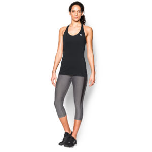 Under Armour Women's HeatGear Racer Tank Top - Black