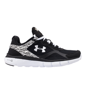 Under Armour Women's Micro G Velocity Running Shoes - Black/White