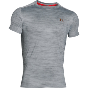 Under Armour Men's CoolSwitch Run Podium Short Sleeve T-Shirt - Grey/Red