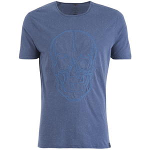 Smith & Jones Men's Diastyle Skull T-Shirt - Moonlight Blue Nep