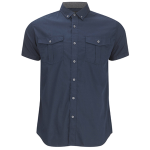Smith & Jones Men's Pelmet Short Sleeve Shirt - Navy Blazer