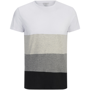 Jack & Jones Men's Core Dylan Block Stripe T-Shirt - White