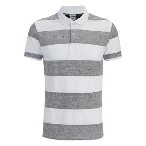 Jack & Jones Men's Originals Micks Polo Shirt - Black/White