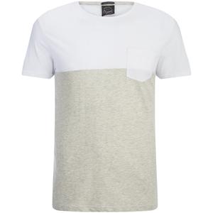 Jack & Jones Herren Originals Tobe 2 Tone T-Shirt - Weiß