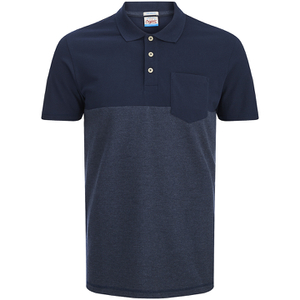 Jack & Jones Men's Originals Spark 2 Tone Polo Shirt - Navy Blazer