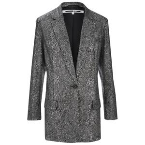 McQ Alexander McQueen Women's Sequin Blazer - Silver