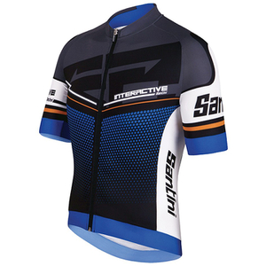 Santini Interactive 3.0 Short Sleeve Jersey - Blue