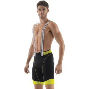 Santini BCool Aero Bib Shorts - Black/Yellow