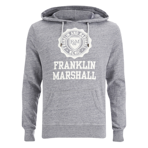 Franklin & Marshall Men's Big Logo Hoody - Sport Grey Melange