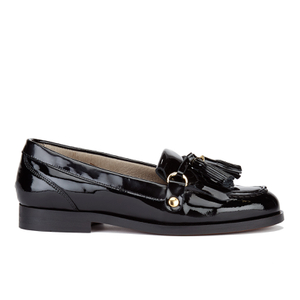 Hudson London Women's Britta Patent Tassle Loafers - Black