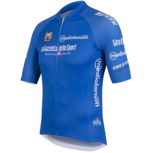 Santini Giro d'Italia 2016 King of the Mountain Short Sleeve Jersey - Blue
