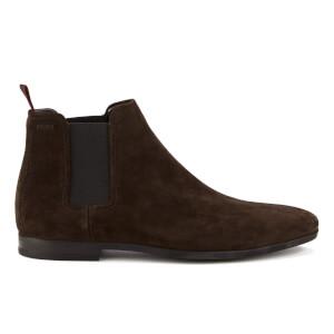 HUGO Men's Pariss Suede Chelsea Boots - Dark Brown