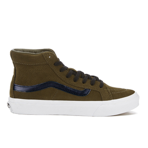 Vans Women's Sk8-Hi Slim Cut Out Perforated Suede Trainers - Tarmac/True White
