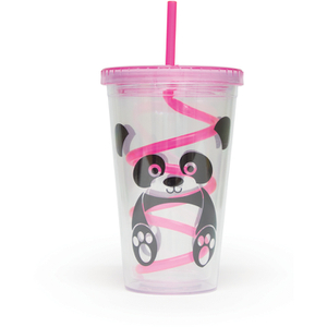 Panda Straw Cup - Multi (16oz)