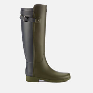 Hunter Women's Original Tall Refined Back Strap Wellies - Dark Olive/Navy