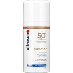 Ultrasun SPF50 + Loción Solar con Brillo (100 ml)