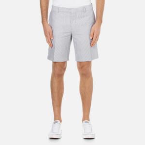 J.Lindeberg Men's Nathan TL Pattern Linen Shorts - Navy Stripe