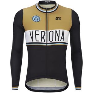Alé Verona Long Sleeve Jersey - Brown