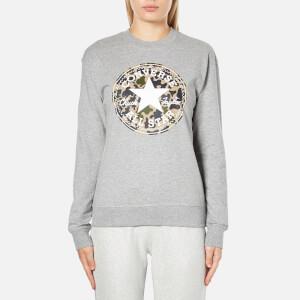Converse Women's All Star Camo CP Graphic Crew Sweatshirt - Vintage Grey Heather