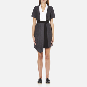 Carven Women's Shirt Wrap Dress - Grey