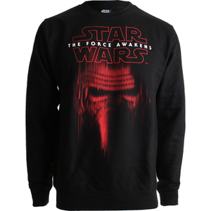 Star Wars Men's Kylo Ren Mask Sweatshirt - Black