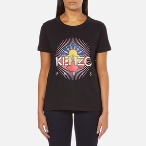 KENZO Women's Tenamie Flower Logo T-Shirt - Black