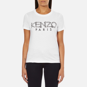 KENZO Women's Paris Rope Logo T-Shirt - White