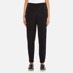 KENZO Women's Cuff Bottom Smart Trousers - Black