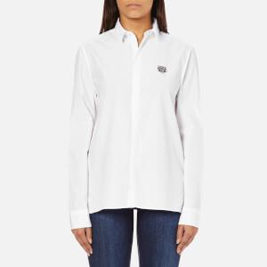 KENZO Women's Shirt with Small Tiger Logo - White