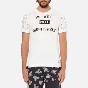 Vivienne Westwood Anglomania Men's We Are Not Disposable T-Shirt - White