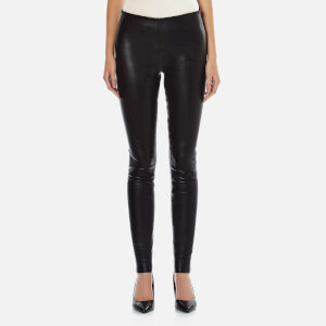 By Malene Birger Women's Elenasoo Leather Trousers - Black